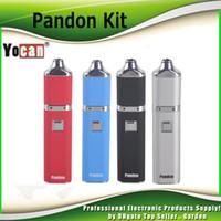 Wholesale Quad Kits - Original Yocan Pandon QUAD Wax Pen Starter Kit 1300mAh Battery Authentic 2 QDC Coils Tank vaporizer Kits 100% genuine 2204028