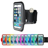 Wholesale Iphone G Cases - Wholesale-Free Shipping Premium Neoprene Running Sports Gym Workout Armband Case Cover Pounch For LG G Pro Lite Dual   LS996   Display