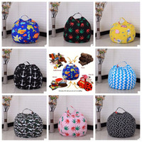 Wholesale Large Beans - 22 Colors 18 inches Storage Bean Bags Kids Bedroom Stuffed Animal Dolls bag Plush Toys Large Capacity Spherical Totes CCA8330 50pcs