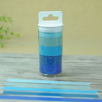 Wholesale Rainbow Rolls - 1.5cm width DIY New Rainbow Roll Washi Sticky Paper Tape Masking Tape Self Adhesive Scrapbooking Decorative Tape 2016