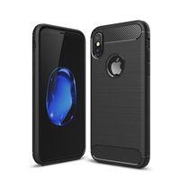 Wholesale Silicone Tpu Slip - Carbon Fiber brushed Silicone Case Slim Soft Anti-slip for iPhone X 8 7 6S Samsung S8 plus Note 8 J3 J5 J7 OppBag