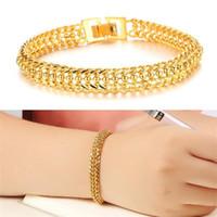 Wholesale Brass Items - Women gold plated charm bracelet vintage jewelry 18K gold plated bracelets bangles luxury designer items wholesale KS424