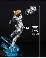 Wholesale Ezreal Figure - 30cm Anime LOL Ezreal EZ Future Soldier PVC Action Figure CHN Edition model doll ornaments