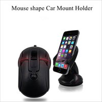 Wholesale Start Phone - Mouse Shape Car Mount Holder 2016 New arrival Cell Phone Mounts One-Button Start Convenient storage with Retail Package