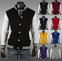 Wholesale Letterman Baseball - East Knitting 2016 Premium Varsity College Letterman Baseball Jacket Uniform Jersey Hoodie Hoody US M L XL XXL