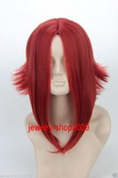 Wholesale High Quality Red Wig - Free Shipping New High Quality Fashion Picture full lace wigs>>New wig Cosplay Code Geass  Kouzuki Kallen Dark Red Reflex Action Halve Wig