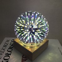 Wholesale led lights for table decorations - Super Pretty in Night LED 3D Colorful Starry Glass Starburst Ball LED Table Light DC5V 3W USB Charge For Home,wedding party decoration