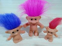 Wholesale Baby Collection Dolls - 8CM Good Luck Trolls Anime Action Figures Classic Baby Doll Toys Mini Home Collection Christmas Gifts Cartoon Film PVC Trolls Dolls Toy