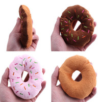 pet dog puppy cat squeaker quack sound toy chew donut play toys uk
