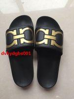 Wholesale High Beach Sandals - New Arrival 2017 European high-quality men's fashion casual rubber sandals Gancini slide sandals brand summer outdoor beach slippers 40-45