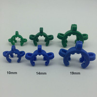 10mm 14mm 19mm Plastic Keck Clip Clips Laboratório Lab Clamp Clip Plastic Lock para Bongos de vidro Wate Pipes Adapter Nectar Collector Wholesale