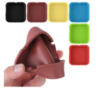 Wholesale Cool Home Gadgets - Colorful Friendly square style Silicone Ashtray for Home novelty Crafts Pocket Ashtrays for Cigarettes cool Gadgets ashTray