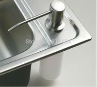 Wholesale Soap Dispenser Deck Mount - Free shipping Wholesale And Retail Promotion Deck Mount Brushed Nickel Soap Dispenser Kitchen Sink Liquid Soap Dispenser Bottle