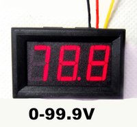 "Wholesale Motorcycle Battery Voltage Monitor - 50pcs lot New 2016 digital Car DC Power 0-100V 0.56"" voltmeter Motor Motorcycle Battery Tester voltage Monitor color LED red"