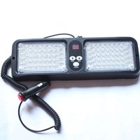 86 LED Super Bright Visor Strobe Flash Light Panel 86LED 2x43 LED 6 colores cambiables opcionales rojo azul ámbar blanco