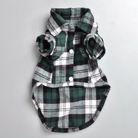Wholesale Wholesale Apparel Bow Shirt - Plaid shirt Style Pet Cloth Cute Pet Spring and Summer Clothes Dog Apparel Multiple Colors and Sizes dhl