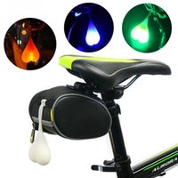 Wholesale Egg Waterproof - Creative Waterproof Silicone Road Bike Balls Tail Light Waterproof Night Cycling Essential LED Red Warning Lights Bicycle Seat Back Egg Lamp