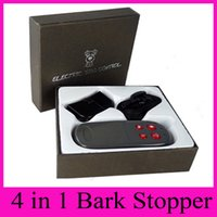 Wholesale Barking Dog Stopper - 4 in 1 Remote Control Electric Shock Bark Stopper Dog Trainer Collars With Electroshocks + Vibration + Sound + Lighting Anti Barking Control