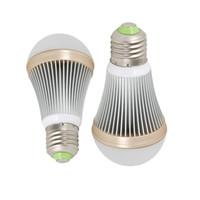 Wholesale Golden Base - led light bulbs dimmable 3W 5W 7W 9W 12W E26 E27 B22 base aluminum body golden edge globe bulbs smd5730 cree chip AC85-265V