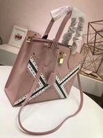 Wholesale Pattern Lock - Fashion women handbag crossbody messenger bag tote purse top quality shoulder bag with embossed pattern lock and key