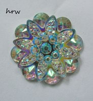 Wholesale Halloween Flat Back Resins - Free shipping DIY accessories 200PCS Lot 25mm flower AB color Flat backs 2 hole Sew on Rhinestones