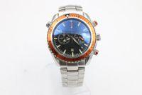 Wholesale Orange Bezel Dive Watch - watch men quartz chronograph steel stopwatch Professional orange bezel waches Co-Axial planet ocean master watches men dive wristwatches