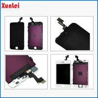 Wholesale Wholesale Replacement Mobile Phone Screens - Mobile Phone Repair LCD Screen Replacement For iPhone 5S 5C 5 LCD Screen With Touch Screen Assembly AAA+