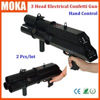 Wholesale confetti cannons wholesale - 2Pcs lot Confetti Machine,Wedding Confetti Cannon ,Party Confetti Gun 3Channals Hand Controller with battery no need power