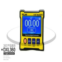 Wholesale Professional DXL360 Digital Protractor Inclinometer Dual Axis Level Measure Box Angle Ruler Elevation Meter10sets