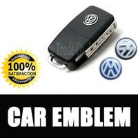 Wholesale Vw Key Sticker Logo - 14mm Car Remote Key Emblem Sticker VW Volkswagen LOGO Stickers car logo emblem