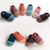 Wholesale Funny Baby Socks - Funny Baby Shoes rubber sole girls sock Cartoon Duck Fox hot anti skid kids shoes first walker toddler boys shoes sock Skidders A7948