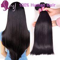 Wholesale Best Brazillian Hair Weave - Brazilian Hair Weave Bundles Best 8A Unprocessed Brazillian Peruvian Indian Malaysian Cambodian Straight Human Hair Extensions Natural Black