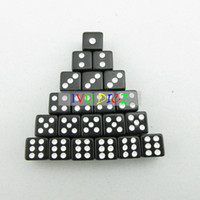 Wholesale Game Points - 100pcs D6 8MM Dice SOLID BLACK with WHITE point 1-6 automatic mahjong game KTV party machine dice IVU