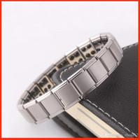 Wholesale Health Balance Bracelet - Health bracelets magnetic GE power titanium steel Magnetic Energy 80 Germanium Power Bracelet energy Balance bangles BY DHL 160816