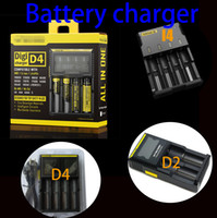 Wholesale Digital Universal Charger - Universal Battery chargers Compatible intelligent digital LCD chargers Adapter Four Slots Chargers for 18650 18500 26650 16340 Rechargeable