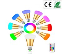 Wholesale Color Changing Mood Led Lights - 10W E27 E26 LED RGB RGBW Color Changing Globe Bulbs Dimmable Led Bulbs Light Magic Mood Light Lamp with Timer Function Remote Control