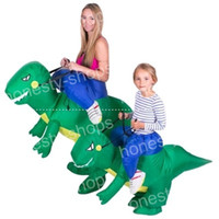 Wholesale Inflatable Figures - Novelty Dinosaur Inflatable Mount Funny Holiday Party Costume Cartoon Figures Modelling Costume For Adult And Kids