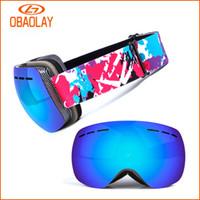 Wholesale Myopia Mask - Polarized Ski Goggles Double Layers Sunglasses UV400 Anti-Fog Ski Mask Sunglasses Men Women Skiing Snowboard Goggles, Can Put Myopia Glasses