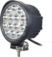 Wholesale Off Road Led Ip68 - Super Bright Round Led Work Light High Power 42W Epistar LED Working Light Off-Road SUV ATV 4WD 4x4 Flood Beam 10-30V IP68