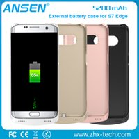 Wholesale Extended Cases - extended power battery case cover backup power bank slim charging case for samsung S7 edge in stock 2016 new products