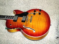 Wholesale Es Sunburst - Cherry Burst Classic ES-137 Jazz Electric Guitar Best High Quality Guitar Musical instruments Wholesale