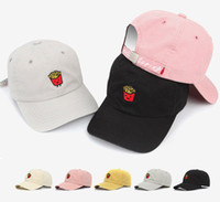 Wholesale Supporting Letter - 2016 New smiley fries baseball cap letter adjust streets with wild solid color hat adjustable wholesale support