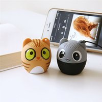 Wholesale Cat Portable Speakers - New Ultra Mini Bluetooth Speaker Wireless Portable Cute Cartoon Cat Music Bass Loudspeaker Support Phone Handsfree MP3 Player Cartoon mouse