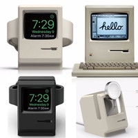 Wholesale Retro Dock - Retro Macintosh Silicone Charger Stand for Apple Watch 1 2 Cord Holder Charging Docking Station