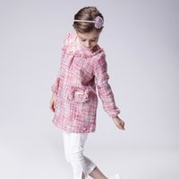 Wholesale Kids Pocket Dress - Children Autumn Dresses New Fashion Hot Sale Flowers Pockets Long Sleeves Cotton Kids Girls Dress