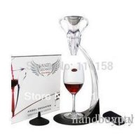 Wholesale Wine Tower Aerator - Hot Sell Portable Angel Wine Aerator Bottle Decanter Tower, Deluxe Wine Aerating Set, 8 Sets Lot Wholesale Free Shipping Via DHL 0419xx