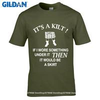 Wholesale Gifts For Men Ideas - GILDAN DIY Style mens t shirts 100% Cotton Geek Family Top Tee Men's Kilt Wearer's T Shirt Funny Gift Idea For Scottish Men