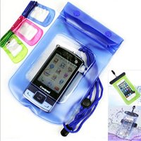Wholesale Wholesaler For Clips Bands - Waterproof PVC Pouch Underwater Bag Waterproof Cases With Neck Rope Swimming Diving Arm band Covers For 3.5-5.5 inch Universal Moblie Phone