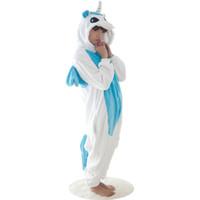 unicornio adulto sudaderas al por mayor-Invierno Kawaii Anime con capucha pijamas de cosplay caballo adulto Onesie Navidad AZUL traje de pijama unicornio azul unicornio Onesie jumpsuit ropa de dormir