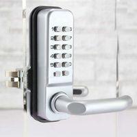 Wholesale Door Password - Mechanical Password Glass Door Lock,Keyless Code Locks, Color Silvery